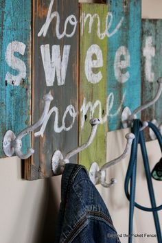Home Sweet Home Coat Hook - Someday Crafts