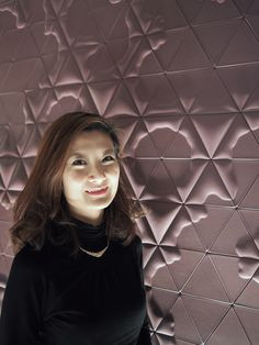 We met Elaine Yan Long Ng, a designer from Hong Kong, at Maison Objet. Her collection of beautiful wall coverings are inspired by patterns found in nature - simply amazing! See more home design inspiration at www.mcinteriors.com. #MaisonObjet #mcinteriors #wallcoverings #interiordesign #homedesign #homedecor
