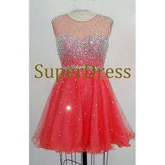 New arrival sleeveless red tulle short prom dress,cocktail dress,fashion prom dress,short evening dress