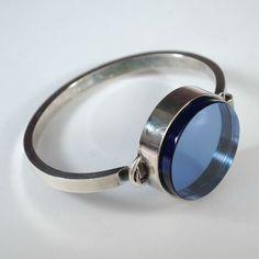 Mid Century Modern Sterling Silver Lucite Bracelet