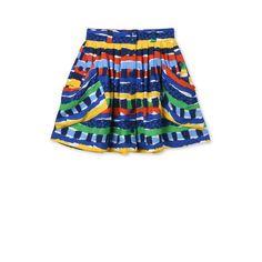 SM60Q-SIK25-DOLLIE Multicolor Print Crepe Skirt