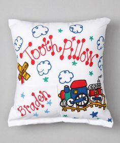 This Train Personalized Tooth Pillow is perfect! #zulilyfinds