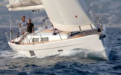 Hanse 455. 4 Cabins, 8+2 Berths. Available for charter in Croatia, Greece and Turkey