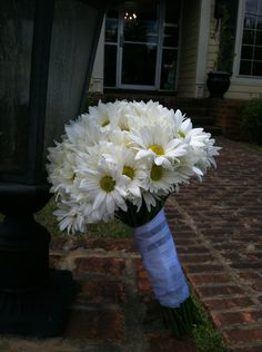 All White Daisy Bridal Bouquet from The Flowergirl