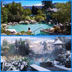 Hammer Springs village, thermal pools, New Zealand #funfreedomfulfillment #dreamtrips #rovia #newzealand