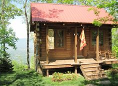 Chattanooga Vacation Rental - VRBO 141929 - 1 BR East Cabin in TN, Log Cabin in the Clouds