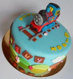 Thomas the train birthday cake. Look Hannah! Cupcakes, Cake Cookies, Cupcake Cakes, Birthday Ideas, Sons Birthday, Birthday Stuff, Birthday Cakes, Thomas Cakes, Thomas The Train Birthday Party