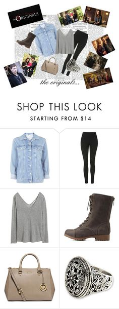 """""""the originals outfit"""" by elena-light178 ❤ liked on Polyvore featuring Topshop, H&M, Charlotte Russe, MICHAEL Michael Kors and NOVICA"""