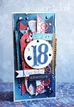 16th Birthday Card, Birthday Cards, Steampunk Cards, Mixed Media Cards, Birthday Scrapbook, Beautiful Handmade Cards, Masculine Cards, Card Tags, Creative Cards