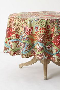 Tahitian Vine Tablecloth, Round #anthropologie
