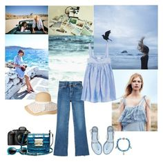 """I just back from a trip"" by romihi ❤ liked on Polyvore featuring Polaroid, M.i.h Jeans, CO and Nikon"