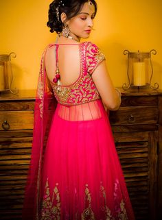 Glam it up & Make a striking style statement in this Fuchsia Pink Jacket Lehenga. The Lehenga is gorgeously embroidered with patch work & glittering silver stones. Copper & Silver Shimmer border detailing on the Net Lehenga completes the entire classy look!! Book it and flaunt the look, for bookings call us at 7722009477. ‪#‎rentanattire‬ ‪#‎prettypink‬ ‪#‎tryitbookitfaluntit‬ ‪#‎rentalehenga‬ ‪#‎indowestern‬ ‪#‎indianfashion‬ ‪#‎weddingsutra‬ ‪#‎punefashionbloggers‬ ‪#‎fashionandyou‬ ‪