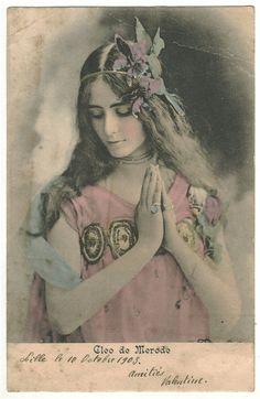 """Cléopatra Diane (""""Cléo"""") de Mérode (27 September 1875 - 17 October 1966 (aged 91)) was a French dancer of the Belle Époque."""