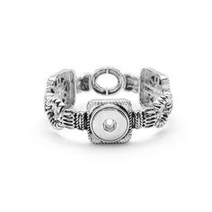 Product # S0628 Links Stretch Bracelet  Links Stretch Bracelet. One size fits most. Holds 3 18mm Original Snaps. Price: $39.99