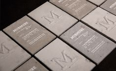 Business cards by French design team Murmure: murmure.me.