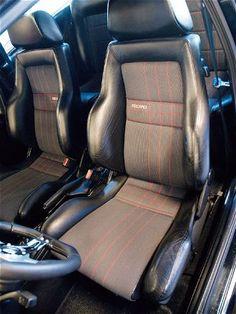 Steve Brown's 1989 VW GOLF GTI RALLYE Custom - Interior - stock OEM electric Recaro seats