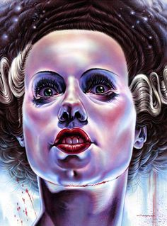 Universal Monsters, A Group Art Show Inspired by Classic Film Monsters Bride of Frankenstein by Jason Edminston Mondo Gallery will be featuring original works and limited edition screen prints from a large collection of Art Frankenstein, Jason Edmiston, Arte Punk, Pop Art, Poster Print, Monster Illustration, Frankenstein's Monster, Classic Horror Movies, Pop Culture Art