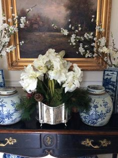 I love silver and blue! A winner and Christmas at my house so far..... - The Enchanted Home