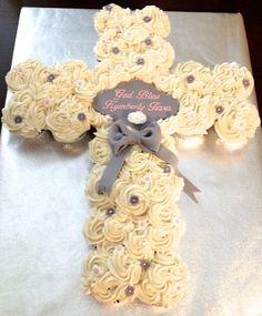 Baptism Cupcakes, Decoration, Cupcake Cakes, Birthday Cake, Baptisms, Sweet, Desserts, Tattoo, Recipes