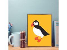 Plakát Papuchalk (žlutý) . Autorský plakát Papuchalk formát A3 kvalitní tisk na silném pololesklém papíře plakát dodáváme bez rámu