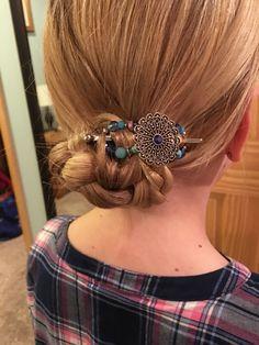 Extra Small bun Hair Sticks, Hair Clips, Bobby Pins, Hair Accessories, Rose, Earrings, Beauty, Jewelry, Ideas