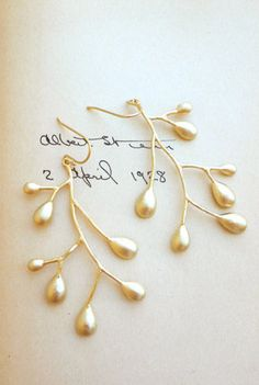 sea twig earrings - so pretty
