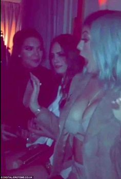 Caught on camera! Social media savvy Kylie even documented the night's antics with a video...