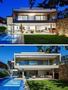 Reinach Mendonça Arquitetos designed the MG Residence, a home in Sao Paulo, Brazil.