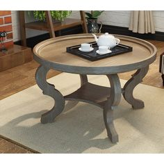Ophelia & Co. Elida Coffee Table with Storage & Reviews | Wayfair Round Coffee Table Modern, Circular Coffee Table, Lift Top Coffee Table, Cool Coffee Tables, Coffee Table With Storage, Coffee Table Design, Small Sitting Areas, Coffee Table Wayfair, Transitional Living Rooms