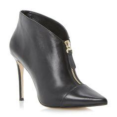 DUNE LADIES ASIA - Zip Vamp Pointed Toe Heeled Shoe Boot - black | Dune Shoes Online