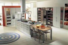 otto-küchenmöbel-modern - teppich am boden - Moderne Küchenmöbel – 30 wunderschöne Bilder