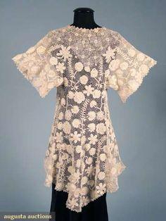 Augusta Auctions, April 2009 Vintage Fashion and Textile Auction, Lot 184: Irish Crochet Edwardian Jacket