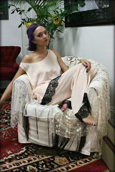 Silk Pajamas and Robe Set Silk Lingerie Silk Sleepwear Pajamas