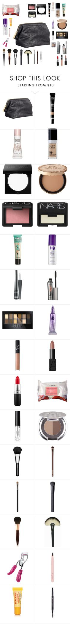 """What's in my makeup bag"" by pendleton-2001 ❤ liked on Polyvore featuring beauty, H&M, Paul & Joe Beaute, Bobbi Brown Cosmetics, Too Faced Cosmetics, NARS Cosmetics, Benefit, Urban Decay, MAC Cosmetics and Maybelline"