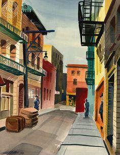 Ken Potter (1926-2011) - Spofford Alley, 1949