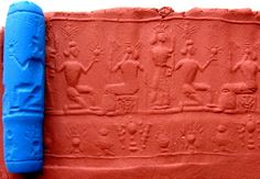Phoenician Cylinder Seal and its impression: