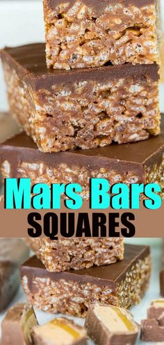 Mars Bars Squares, just like Grandma used to make! Mars Bars Squares, just like Grandma used to make! Christmas Cooking, Christmas Desserts, Köstliche Desserts, Dessert Recipes, Picnic Desserts, Carmel Desserts, Easy Dessert Bars, Quick Dessert, Candy Recipes