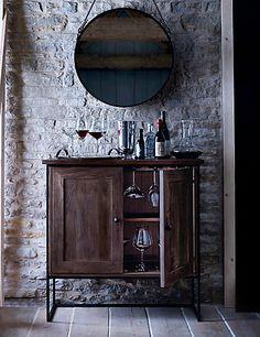Sanford Parquet Drinks Cabinet | M&S