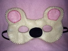 Teddy bear mask on Etsy, $5.06