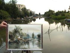 【鳳凰古村】37 x 27 cm  Plien air watercolor by Chien Chung Wei  Painted on site in Shantou China .