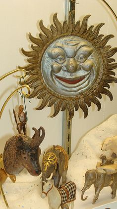 "German ""Sun""  Dresden Ornament."