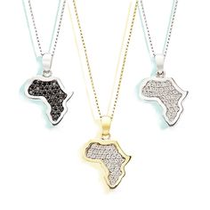 The Map of Africa pendant ties itself to memorable moments with family and friends. Perfectly acquainted with the charms within Africa. 🌍 Africa Map, African Jewelry, Ties, How To Memorize Things, Charms, Pendants, Diamond, Friends, Tie Dye Outfits