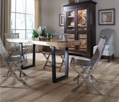 Grand Summit laminate in Classic Hickory brings to mind classic and timeless wood floors of the past. And this laminate has incredible realism with Shaw's enhanced textures. Cost Of Carpet, Bath Cabinets, Carpet Installation, How To Clean Carpet, Folding Chair, Basement Remodeling, Carpet Runner, Home Builders, Kitchen And Bath