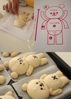 Photo only - Kawaii Koala Bread These little koalas are so cute! Cute Food, Yummy Food, Baby Food Recipes, Cooking Recipes, Japanese Bread, Bread Shaping, Bread Art, Cute Buns, Bread And Pastries