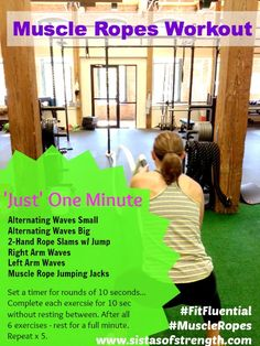 ad. Muscle Ropes Workout via @Sistas of Strength #fitfluential #move #muscleropes