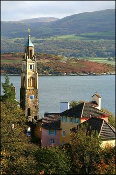 Portmeirion, Wales.I want to go see this place one day. Please check out my website Thanks.  www.photopix.co.nz