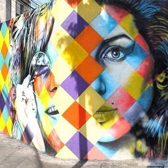 Artist :Eduardo Kobra This artist painted a mural of Bob Dylan in the same style in Downtown, Minneapolis. So cool to see his work in other parts of the world.
