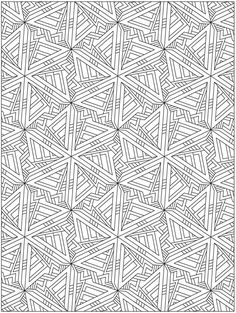 Colouring-in page - sample from 'Creative Haven 3-D Techellations Coloring Book'…