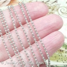 1.5mm Ball Chain, Stainless Steel, Lot Size 50 Meters Spooled, #1923