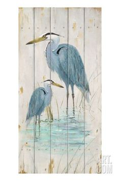 $164.99 w/out discount 16.5x33 Blue Heron Duo Giclee Print by Arnie Fisk at http://Art.com